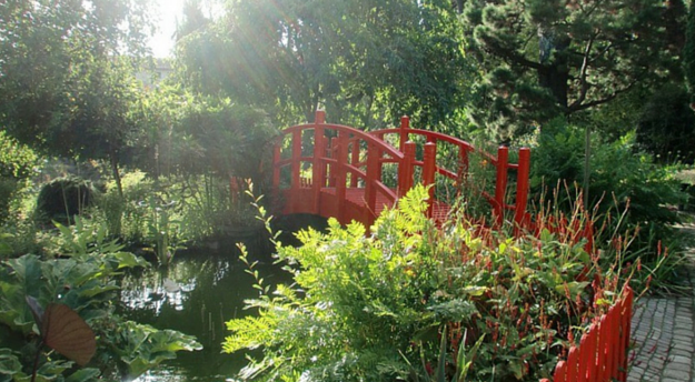 pont japonais au jardin botanique de Bayonne